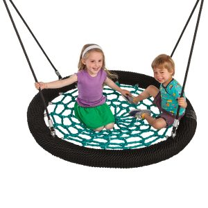 Nest swing in green and black